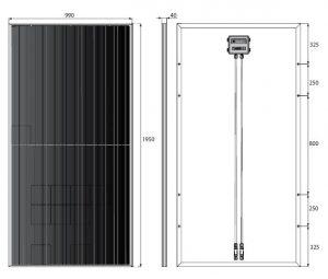 Paneles Solares Monocristalino 375Wp